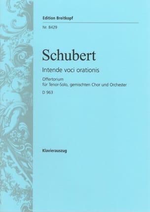 Franz Schubert - Offertorium Intende Voci D 963 - Partition - di-arezzo.fr