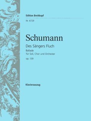 SCHUMANN - Des Sängers Fluch Op. 139 - Partition - di-arezzo.fr