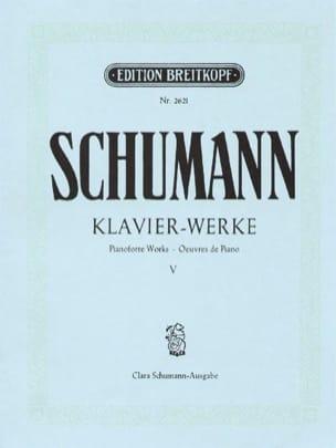Sämtliche Klavierwerke, Volume 5 - SCHUMANN - laflutedepan.com