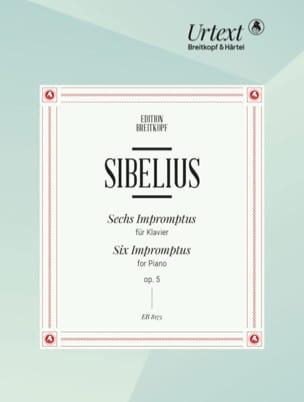 6 Impromptus Opus 5 SIBELIUS Partition Piano - laflutedepan