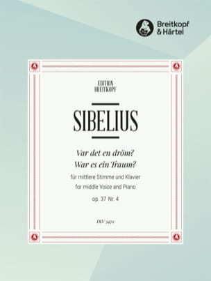 Jean Sibelius - Var Det In Dröm? Op. 37-4 - Sheet Music - di-arezzo.co.uk