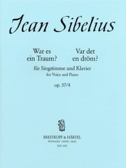 Was It A Dream ? Op. 37-4 - Jean Sibelius - laflutedepan.com