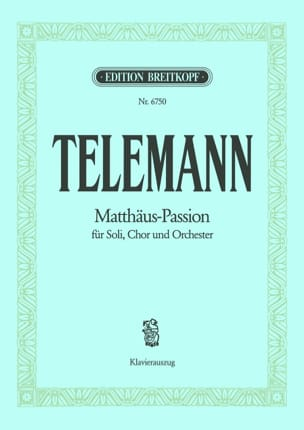 TELEMANN - Matthäus-Passion - Passion According to Saint-Mathieu - Partition - di-arezzo.co.uk