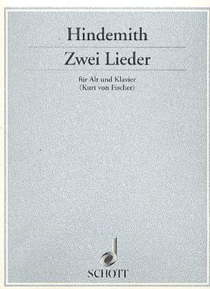 2 Lieder - Paul Hindemith - Partition - Mélodies - laflutedepan.com