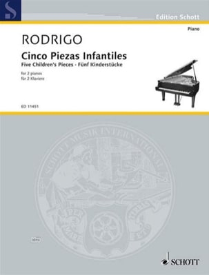 5 Pièces Pour Enfants. 2 Pianos - Joaquin Rodrigo - laflutedepan.com