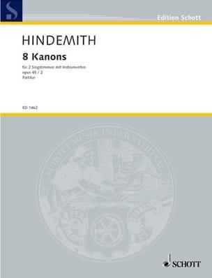 8 Canons, Opus 45-2 Paul Hindemith Partition Chœur - laflutedepan