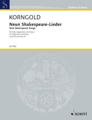 9 Shakespeare-Lieder, Opus 29 und 31 - KORNGOLD - laflutedepan.com