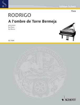 Joaquín Rodrigo - A L'ombre de Torre Bermeja - Partition - di-arezzo.fr