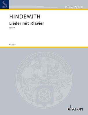 8 Lieder Op. 18 - Paul Hindemith - Partition - laflutedepan.com