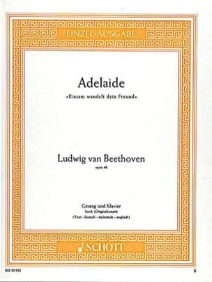Adelaide B-Dur Op. 46 Voix Haute BEETHOVEN Partition laflutedepan