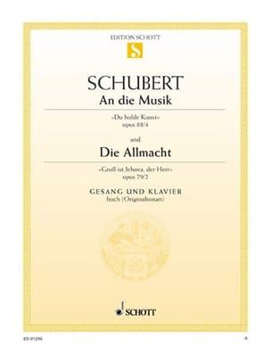 An Die Musik Opus 88-4 / Die Allmacht, Opus 79-2 SCHUBERT laflutedepan