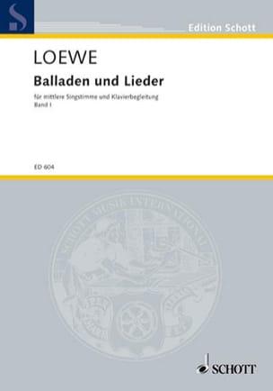 Ausgewählte Balladen und Lieder Bd 1 - Carl Loewe - laflutedepan.com