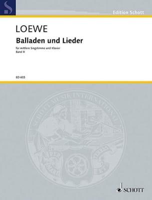 Ausgewählte Balladen und Lieder Bd 2 - Carl Loewe - laflutedepan.com
