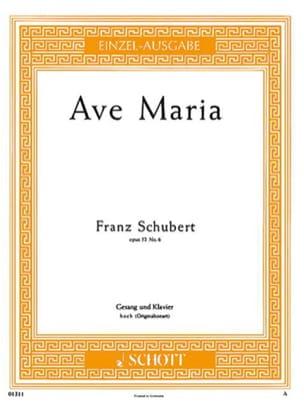 Ave Maria. Opus 52-6. Voix Haute SCHUBERT Partition laflutedepan