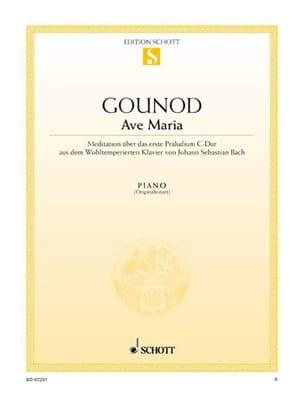 Gounod Charles / Bach Jean-Sébastien - Ave Maria. Piano - Sheet Music - di-arezzo.com