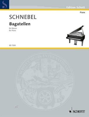 Bagatellen 1986 - Dieter Schnebel - Partition - laflutedepan.com