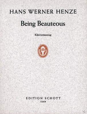 Being Beauteous - Hans Werner Henze - Partition - laflutedepan.com