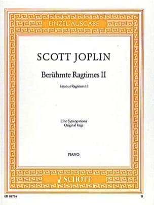 Berühmte Ragtimes II - Scott Joplin - Partition - laflutedepan.com