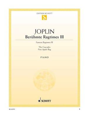 Berühmte Ragtimes III - Scott Joplin - Partition - laflutedepan.com