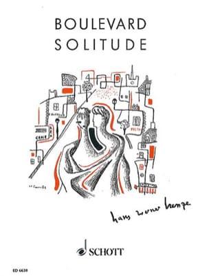 Boulevard Solitude - Hans Werner Henze - Partition - laflutedepan.com