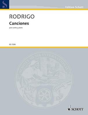 Canciones 1934-64 - Joaquin Rodrigo - Partition - laflutedepan.com