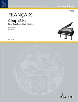 5 bis 1965 - Jean Françaix - Partition - Piano - laflutedepan.com
