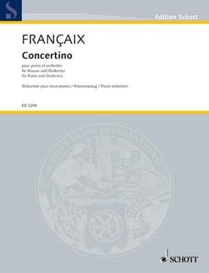 Concertino (1932) 2 Pianos - Jean Françaix - laflutedepan.com