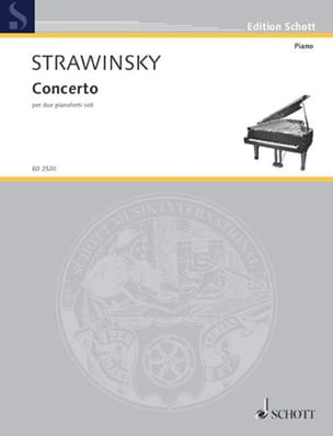 Concerto 1935 Igor Stravinski Partition Piano - laflutedepan