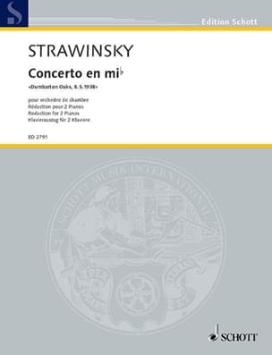 Igor Stravinski - Concerto Dumbarton Oaks In E Flat Major - Sheet Music - di-arezzo.com
