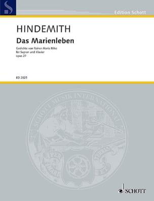 Das Marienleben Opus 27. Soprano - Paul Hindemith - laflutedepan.com