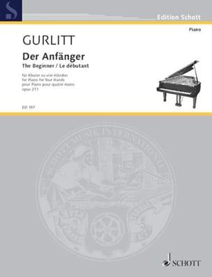 Der Anfänger Opus 211. 4 Mains - Cornelius Gurlitt - laflutedepan.com
