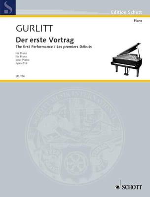 Les Premiers Débuts Opus 210 - Cornelius Gurlitt - laflutedepan.com