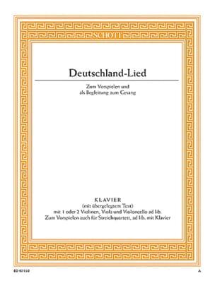 Deutschland-Lied - Joseph Haydn - Partition - Piano - laflutedepan.com