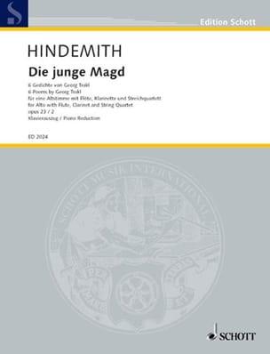 Die Junge Magd Opus 23-2 - Paul Hindemith - laflutedepan.com