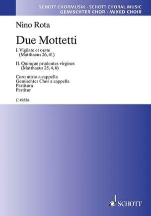 Nino Rota - 2 Mottetti - Sheet Music - di-arezzo.com