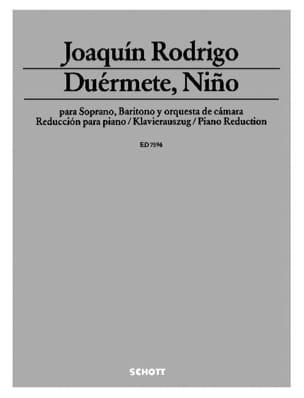 Joaquin Rodrigo - Duérmete, Niño (1952) - Partition - di-arezzo.fr