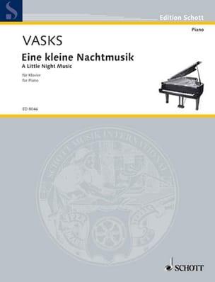 Eine kleine Nachtmusik Peteris Vasks Partition Piano - laflutedepan
