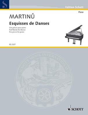 Esquisses de Danses Bohuslav Martinu Partition Piano - laflutedepan