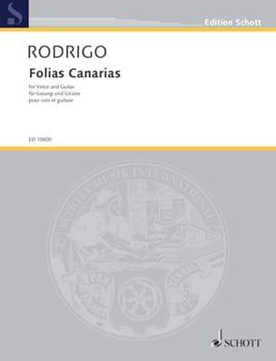 Folias Canarias RODRIGO Partition Guitare - laflutedepan