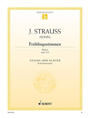 Johann fils Strauss - Frühlingsstimmen Opus 410 - Sheet Music - di-arezzo.co.uk