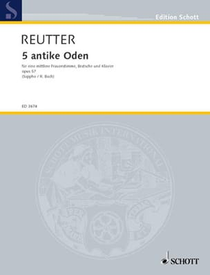 Hermann Reutter - 5 Antike Oden Opus 57 - Partition - di-arezzo.fr