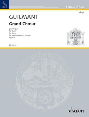 Grand Choeur En Ré Opus 18 Alexandre Guilmant Partition laflutedepan