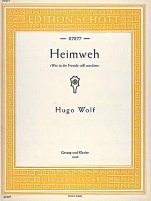 Heimweh. Vx Moyenne Hugo Wolf Partition Mélodies - laflutedepan