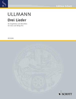 Viktor Ullmann - 3 Lieder - Partition - di-arezzo.fr