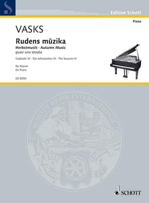 Rudens musika Péteris Vasks Partition Piano - laflutedepan
