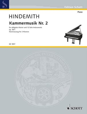 Paul Hindemith - Kammermusik Nr. 2 Op. 36-1. 2 Pianos - Partition - di-arezzo.fr