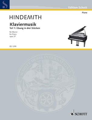 Klaviermusik Op. 37-1 HINDEMITH Partition Piano - laflutedepan