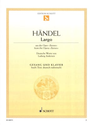 HAENDEL - Ombra Mai Fu Voice High. Serse - Partitura - di-arezzo.it