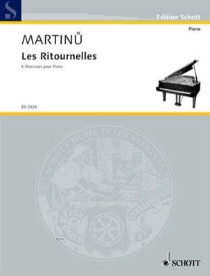 Les Ritournelles Bohuslav Martinu Partition Piano - laflutedepan