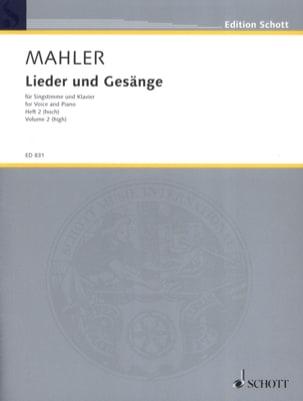 Lieder Und Gesänge Volume 2 Voix Haute MAHLER Partition laflutedepan